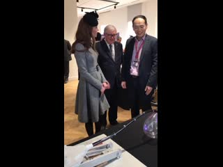 The duchess speaks to the kcl robotics students. - - research carried out at @kingscollege (1)