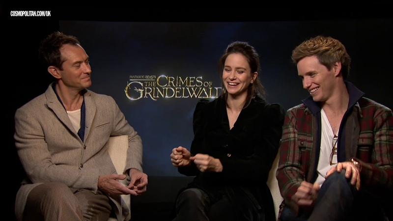 Eddie Redmayne, Jude Law and Katherine Waterson love THIS about Fantastic Beasts fans