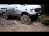 mercedes vario 4x4 offroad and opel frontera