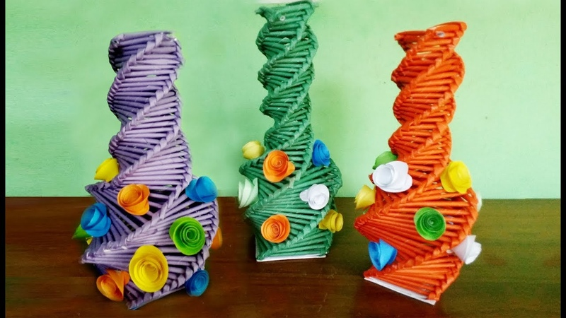 How to Make Flower Vase With Paper Step by Step Easy Origami Paper Vase