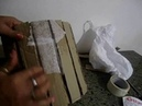 Vaso redondo d papelão Efeito tabua