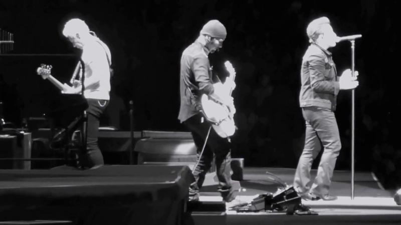 U2 - One Tree Hill Chris Cornell Dedication -Joshua Tree Live @ The Rose Bowl, CA 52117
