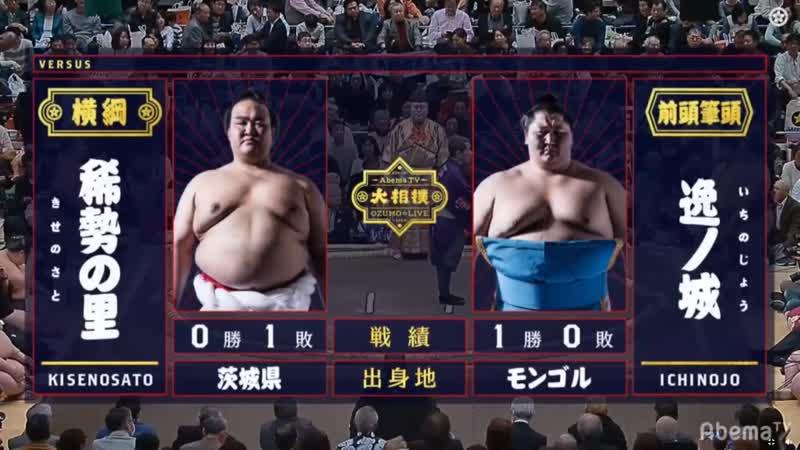 Kisenosato vs Ichinojo Hatsu 2019 Makuuchi Day 2