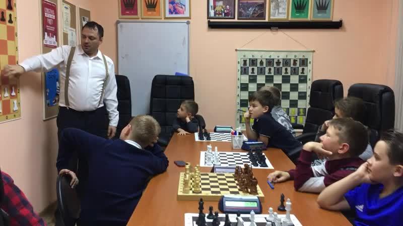 Тренировка в шахматной школе Гардэ в Новосибирске