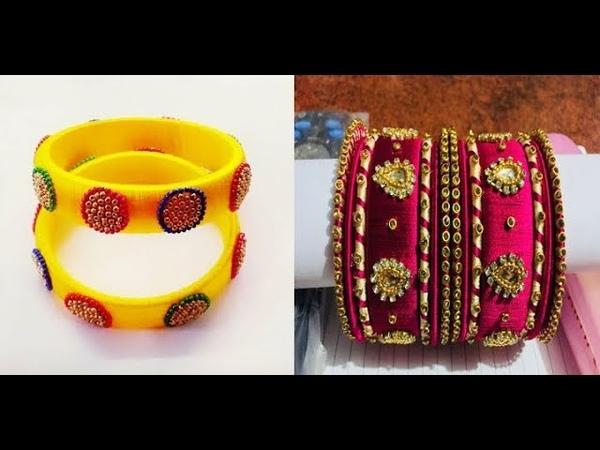 Unique Handmade Silk Thread Bangles New Designs