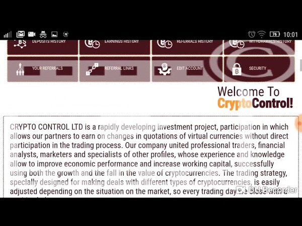CRYPTO CONTROL HYIP investment review