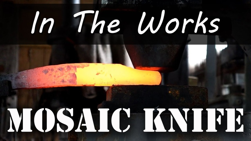 Matt Forges a Mosaic Damascus Knife In The Works