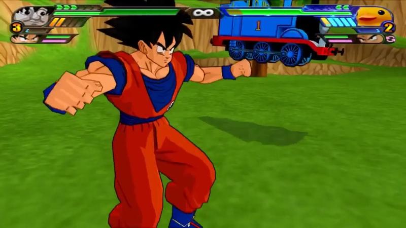 Goku y Thomas Tank FUSION | Thomku The Saiyan Engine | DBZ