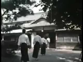 Iwama dojo 1973 - Saito Morihiro sensei