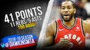 Kawhi Leonard Full Highlights 2019.01.13 Raptors vs Wizards - 41 Pts, 11 Rebs, 5 Asts! | FreeDawkins