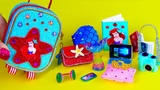 DIY Miniature Ariel School Supplies ~ Little Mermaid Suitcase, Notebooks