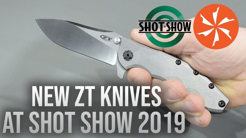 New ZT Knives at SHOT Show 2019 (KnifeCenter Coverage)