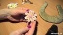 Сувенирная подкова своими руками/ Из цветов канзаши, картона и шпагата