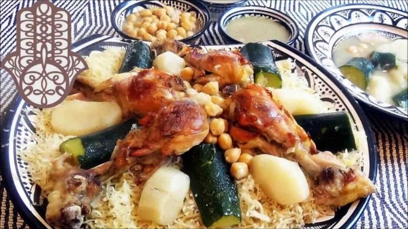 Алжирская кухня решта Rechta - cuisine algéroise