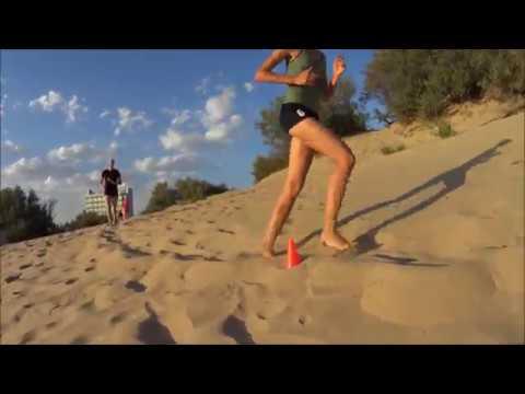 Тренировка Северянки на песчаном бархане