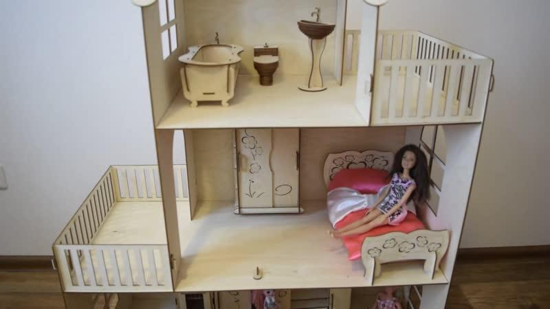 Чудо-дом ЛАЙТ для Барби с мебелью