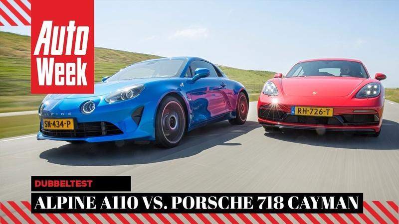 Alpine A110 vs Porsche 718 Cayman - AutoWeek Dubbeltest - English subtitles