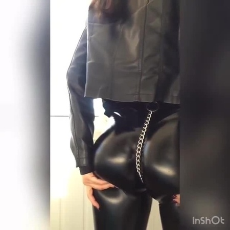 Leather ass coub