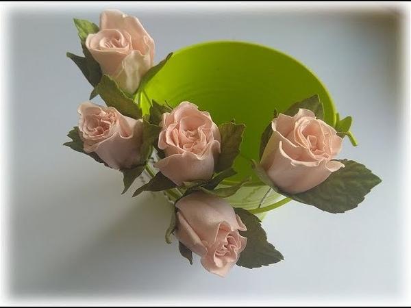 Розочки малютки из фоамирана Мини розочки на шпильке из 3 лепестков