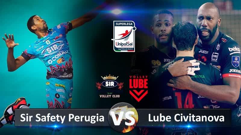 Sir Safety Perugia vs Lube Civitanova. Highlights. Italian Volleyball Super League.