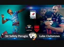 Sir Safety Perugia vs Lube Civitanova. Highlights. Italian Volleyball Super League.
