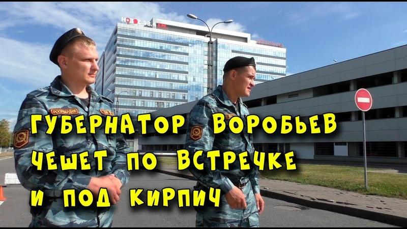 Губернатор Воробьев чешет по встречке и под кирпич