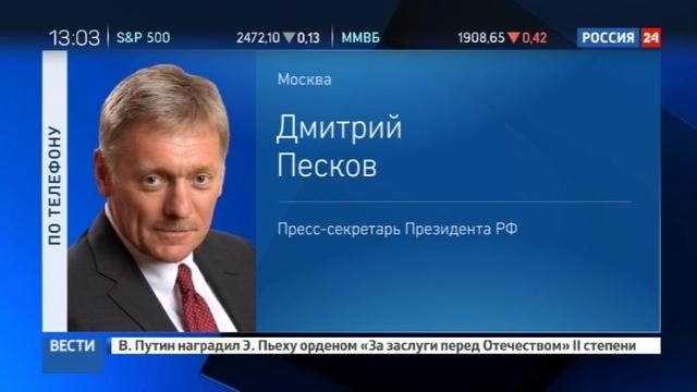 Новости на Россия 24 Песков США должны сами определить кого сокращать в диппредставительствах