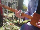 Outlaw Hillbilly Foot Stomping 3 String Fretless Homemade Cigar Box Guitar Blues Rock Slide Guitar