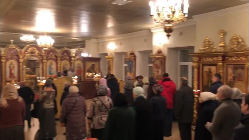 12/XII/2018 г. Всенощное бдение в Андреевском храме Ваганьковского кладбища