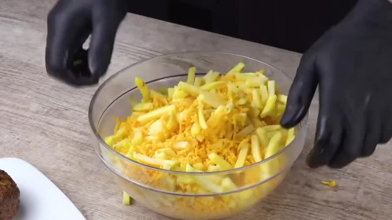 Картофельные шарики с мясом