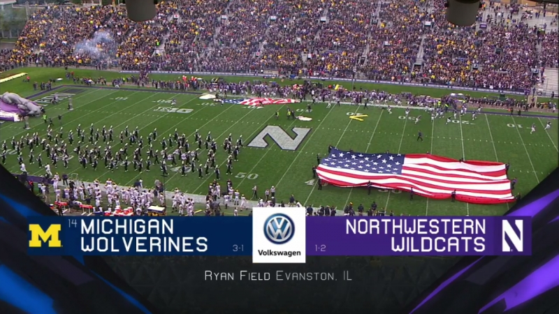 NCAAF 2018 Week 05 14 Michigan Wolverines Northwestern Wildcats 1H EN