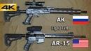 АК против AR-15. Сравнительный отстрел.