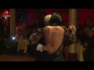 Fernanda Ghi y Nito García en Gricel. Exhibición de tango danza.