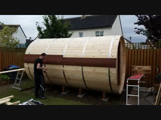 How Build Sauna in 1 Minute, transformation lawn to sauna-Проект «GARDEN»