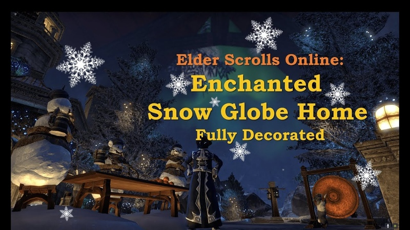 ESO Enchanted Snow Globe Home Fully Decorated Christmas Fairy Tale theme 3