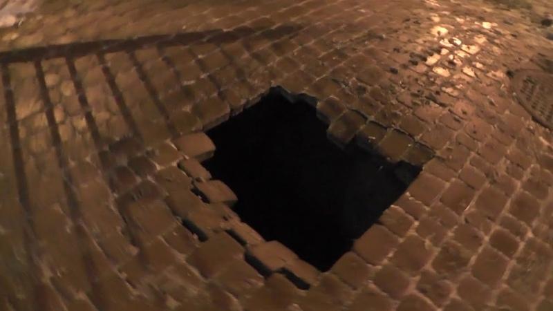 В центре Калуги провалился асфальт