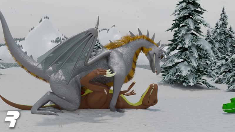 3D Dragons and dinosaur gay furry.