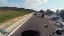 Безумные мото ситуации на дорогах. Мотоциклисты бьют зеркала.