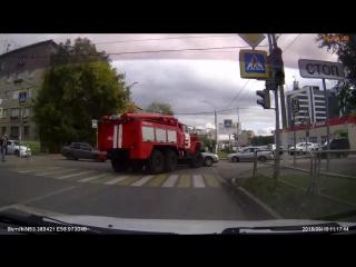 ДТП с пожарной машиной (Сов.Армии - Суворова)