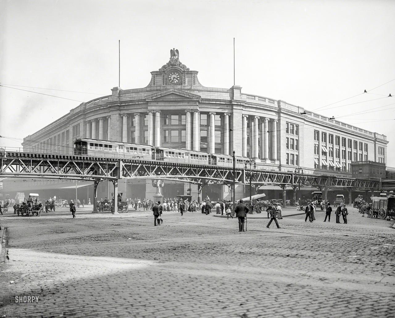 Южный вокзал, Бостон, 1905.