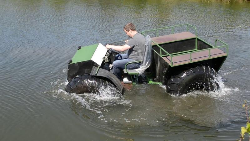 Вездеход Тайга 4х4 на воде