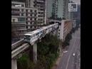 A train in China runs through an apartment building - SAVEATRAIN 🏘️🚈🇨🇳