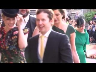 James Blunt, Ellie Goulding and Ricky Martin arrive at royal wedding