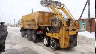 Работники МУП Комбинат Благоустройства организовали вывоз снега и чистку дорог от наледи