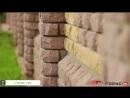 Забор из гиперпрессованного кирпича Горус