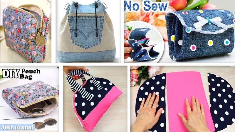 FANTASTIC DIYs POUCH BAG IDEAS Cut Sew Purses Just In A Few Min