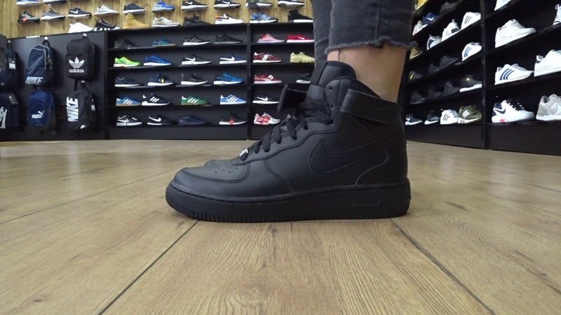 ONFEET Nike Air Force 1 Mid All Black Review | sneakers.by
