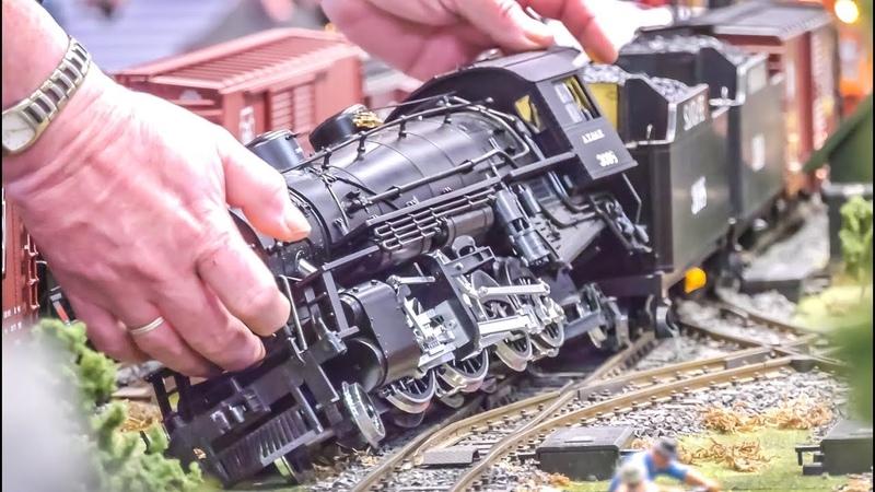 STUNNING Model Trains! Train Crash! Large Scale!
