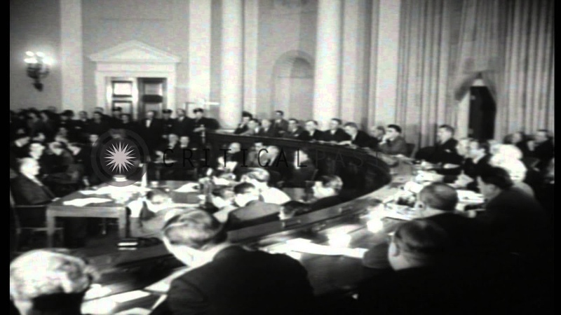 Former Ambassador to the UK Joseph Kennedy testifies before House Foreign Affairs...HD Stock Footage