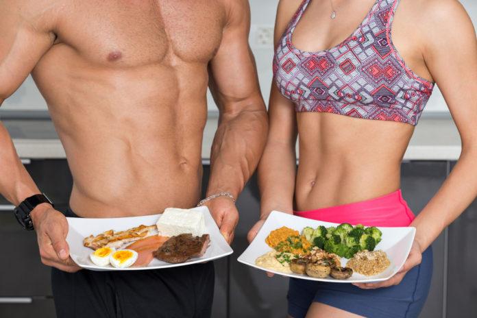 Набрать мышечную массу легче при правильном питании
